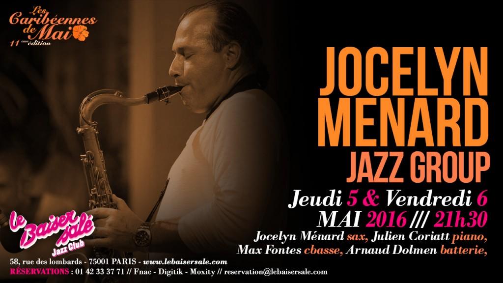 Jocelyn Ménard en concert au Baiser Salé